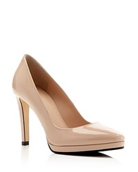Aquatalia By Marvin K Aquatalia Unica Weatherproof High Heel Platform Pumps Blush