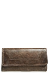 Women's Frye 'Melissa' Continental Wallet Grey Slate