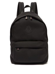 Moncler Pierrick Logo Patch Technical Backpack Black