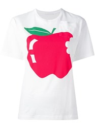 Peter Jensen Apple T Shirt White