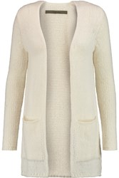 Enza Costa Knitted Cardigan White