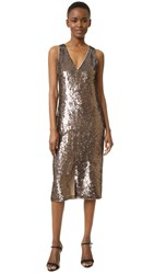 Alice Olivia Tyra Sequin Dress Bronze