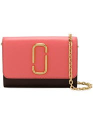 Marc Jacobs Snapshot Chain Wallet Pink And Purple