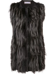Fabiana Filippi Fur Gilet Grey
