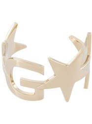 Givenchy Logo And Star Cuff Metallic