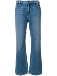 Kenzo Flared Cropped Jeans Blue