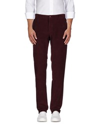 Mason's Trousers Casual Trousers Men Maroon