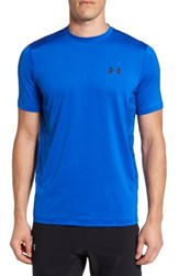 Under Armour Men's 'Raid' Heatgear Training T Shirt Blue Marker Black