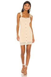 The Jetset Diaries Love Song Mini Dress Beige
