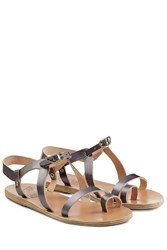 Ancient Greek Sandals Flat Leather Phoebe Sandals Silver