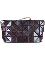 Issey Miyake Bao Bao Quilted Clutch Bag Pink Purple