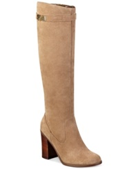 Tommy Hilfiger Mackenze Tall Boots Women's Shoes Otter Taupe