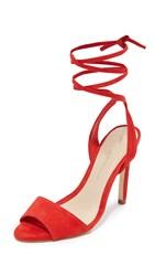 Loeffler Randall Ellie Ankle Tie Sandals Poppy