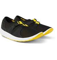 Nike Air Sock Racer Faux Suede Trimmed Mesh Sneakers Yellow