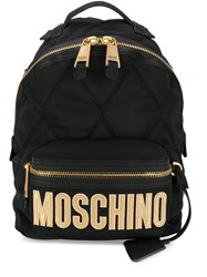 Moschino Embroidered Logo Quilted Backpack 60