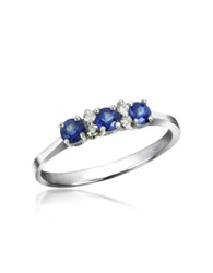 Incanto Royale Sapphires And Diamond 18K Gold Ring Silver