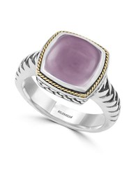 Effy Rose Quartz And 18K Yellow Goldplated 0.925 Sterling Silver Ring