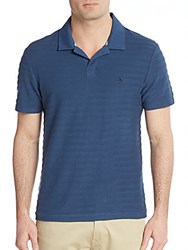 Original Penguin Terry Striped Polo Shirt Dark Denim