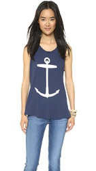 Sol Angeles Anchor Muscle Tank Navy