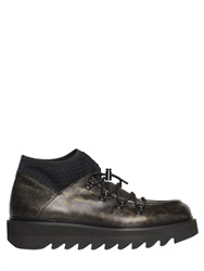 Alberto Guardiani Camo Printed Leather Shark Boots