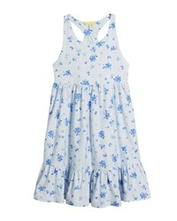 Joules Juno Stripe And Floral Sleeveless Dress Size 3 10 Sky Blue Sun Stri