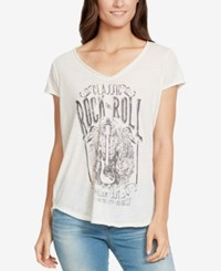 William Rast Rock And Roll Graphic T Shirt Marshmallow