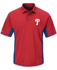 Majestic Men's Philadelphia Phillies Top Of The Inning Polo Red