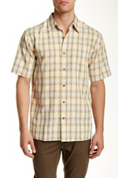 Kahala Up Country Plaid Short Sleeve Shirt Brown