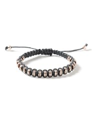 Topman Grey Rose Gold Crystal Bracelet