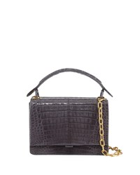 Nancy Gonzalez Medium Crocodile Top Handle Bag Gray