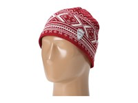 Dale Of Norway Vintage Hat B Red Rose Off White Knit Hats
