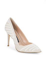 French Connection Elmyra Studded Leather Point Toe Pumps