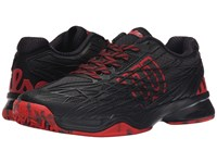 Wilson Kaos Black Black Red Men's Tennis Shoes
