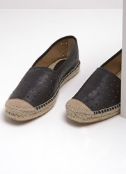 Mint Velvet Amelia Black Star Espadrille Black