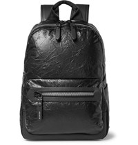 Lanvin Creased Leather Backpack Black