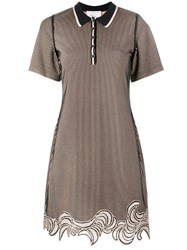 3.1 Phillip Lim Embroidered Hem Polo Dress Nude And Neutrals