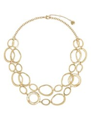 The Sak Link Double Layer Necklace Gold