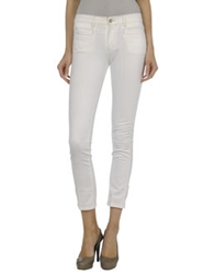 Made In Heaven Denim Capris White