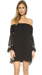 Tbags Los Angeles Ruffle Sleeve Dress Misty Black