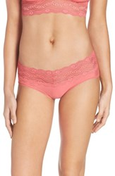 B.Tempt'd Women's By Wacoal B. Adorable Hipster Panty Sunkist Coral