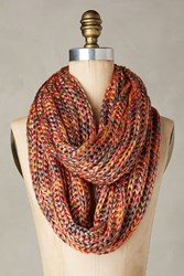 Anthropologie Ashland Infinity Scarf Red Motif