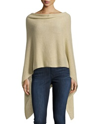 Minnie Rose Cashmere Cowl Neck Asymmetric Hem Poncho Fatigue