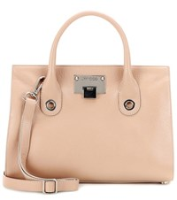 Jimmy Choo Riley Leather Tote Neutrals