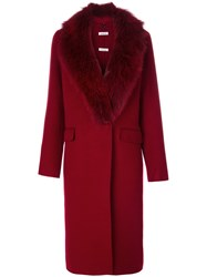 P.A.R.O.S.H. Lover Coat Women Polyester Wool L Red