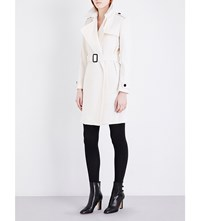 Burberry Tempsford Cashmere Trench Coat White