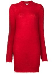 Alyx Longsleeved Shift Dress Red