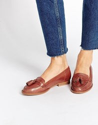 Oasis Tan Tassel Flat Loafer Shoes