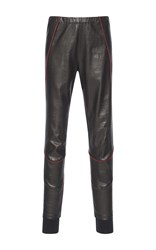 Haider Ackermann Paneled Leather Leggings Black
