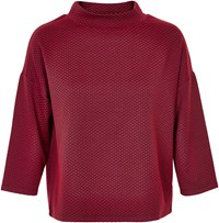 Soaked In Luxury High Neck Top Red