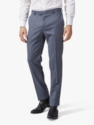 Richard James Mayfair Wool Suit Trousers Mid Blue